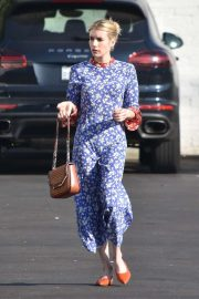 Emma Roberts at Blue Bottle Coffee Shop in Los Feliz
