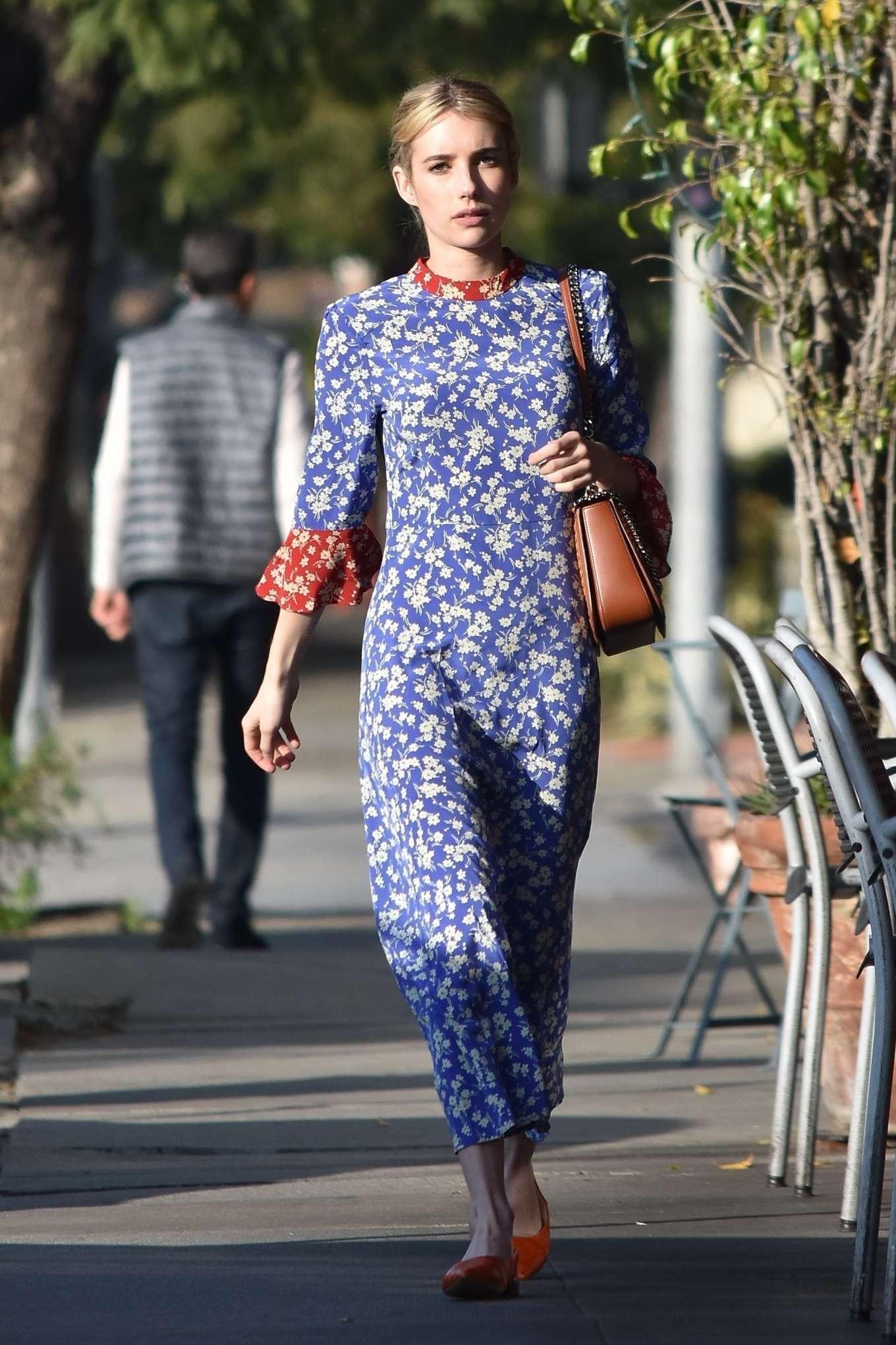 Emma Roberts 2019 : Emma Roberts at Blue Bottle Coffee Shop in Los Feliz-18