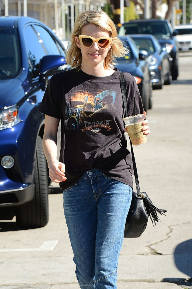 Emma Roberts at Cafe Alfred in West Hollywood