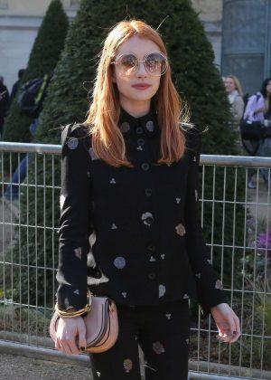 Emma Roberts at Chloe Show in Paris