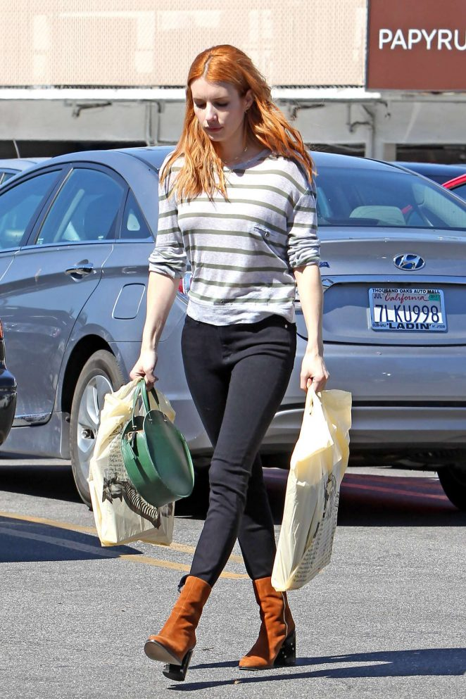 Emma Roberts at Joan's on Third in Los Angeles