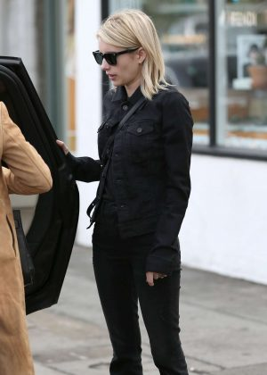 Emma Roberts at Joan's on Third in West Hollywood