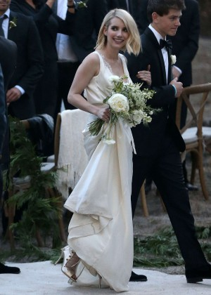 Emma Roberts at Kara Smith Wedding in Los Angeles