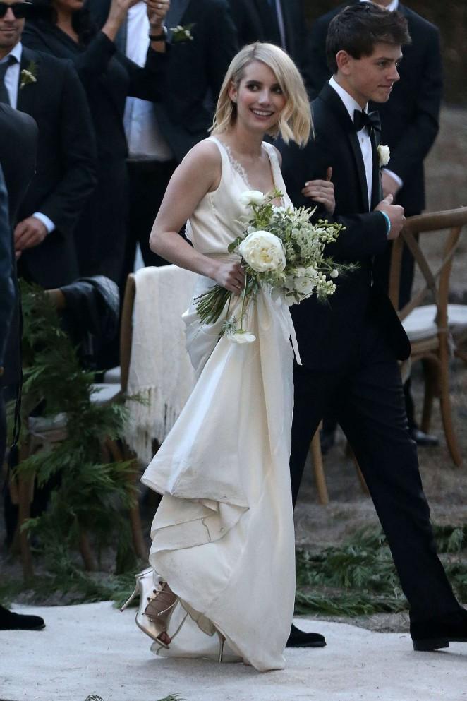 Emma Roberts at Kara Smith Wedding in Los Angeles