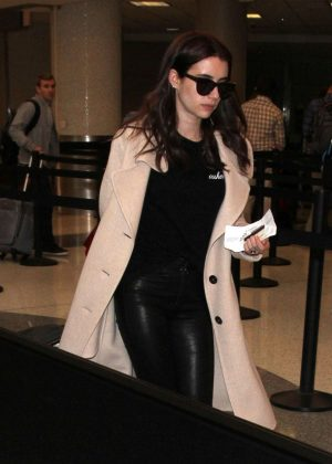 Emma Roberts at LAX Airport in LA