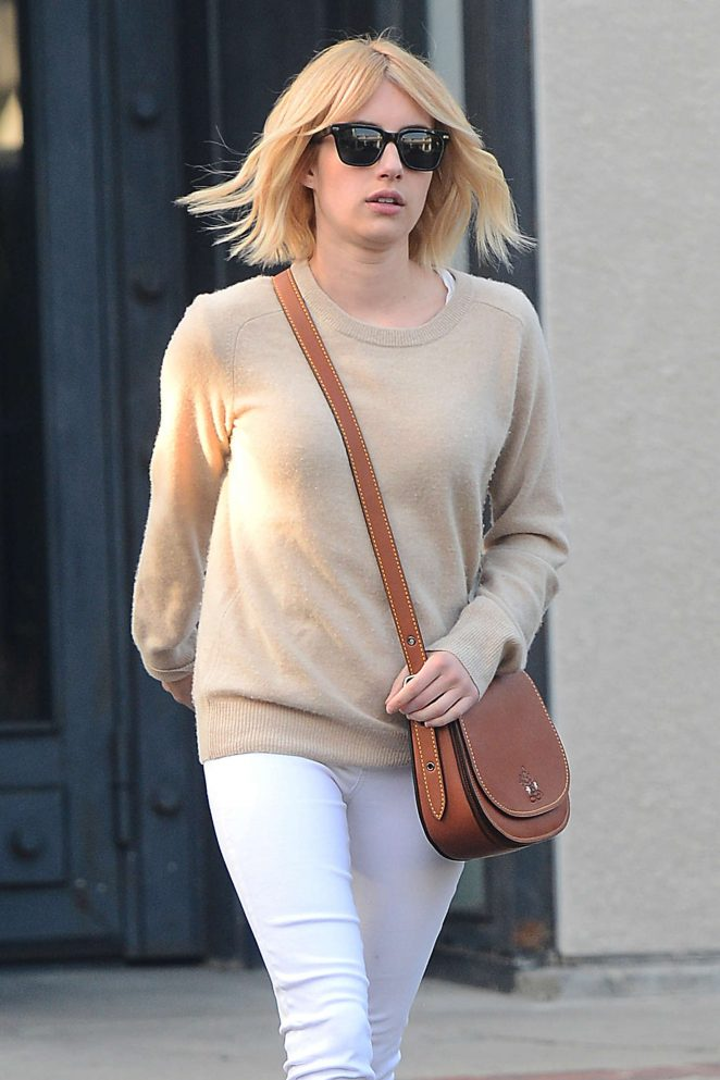 Emma Roberts at Nine Zero One Salon in West Hollywood