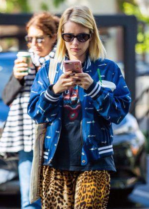 Emma Roberts at Starbucks in Los Angeles