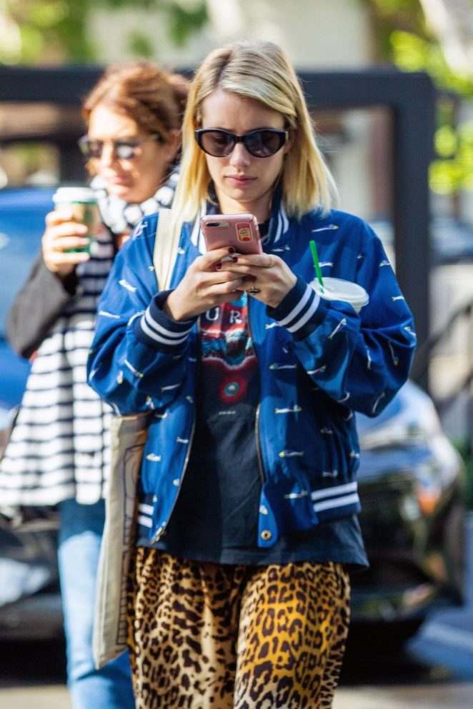 Emma Roberts at Starbucks in Los Angeles