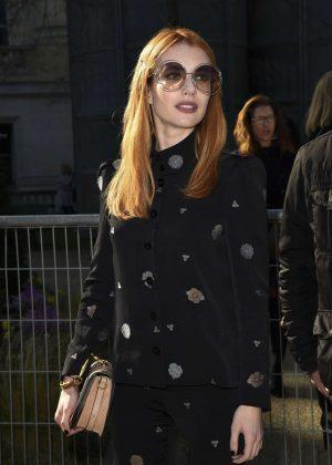 Emma Roberts - Attends at Paris Fashion Week 2017 in Paris