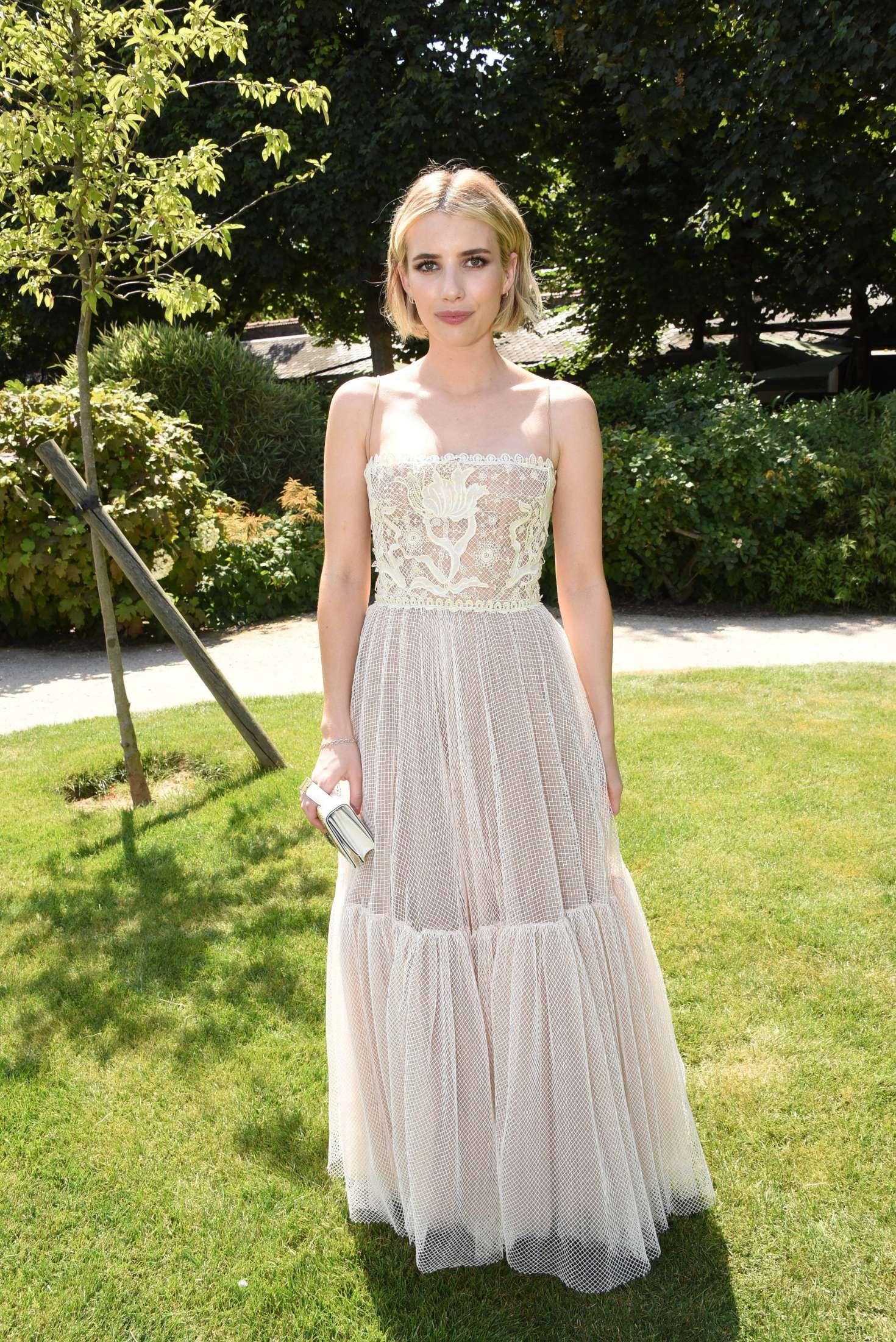 Emma Roberts 2018 : Emma Roberts: Christian Dior Haute Couture Show 2019 -10