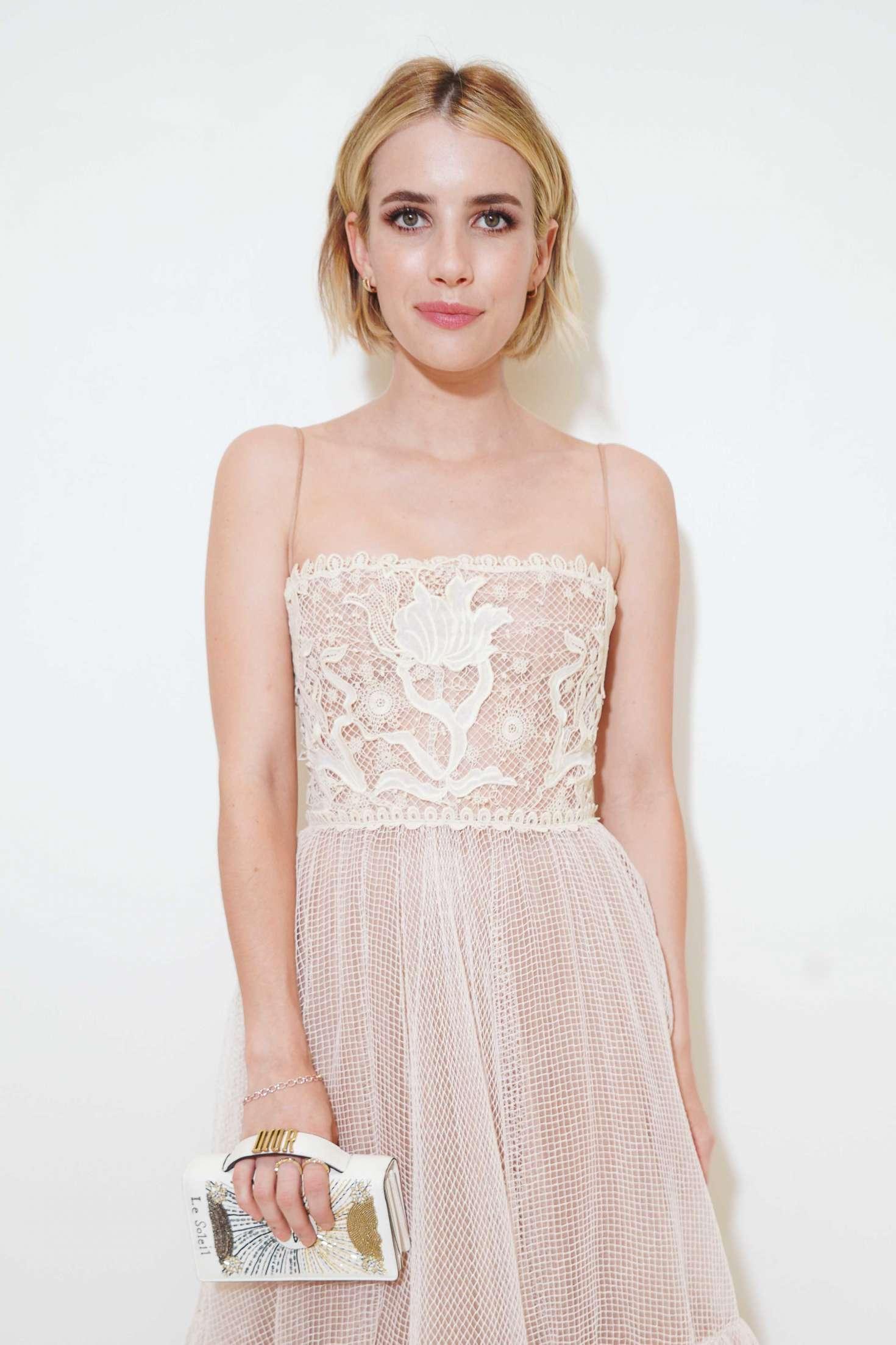 Emma Roberts - Christian Dior Haute Couture Show 2019 in Paris