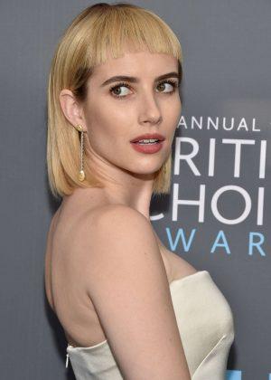 Emma Roberts - Critics' Choice Awards 2018 in Santa Monica