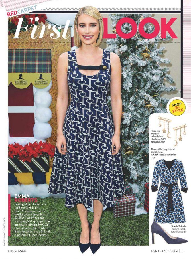 Emma Roberts for Us Weekly Magazine (January 2019)