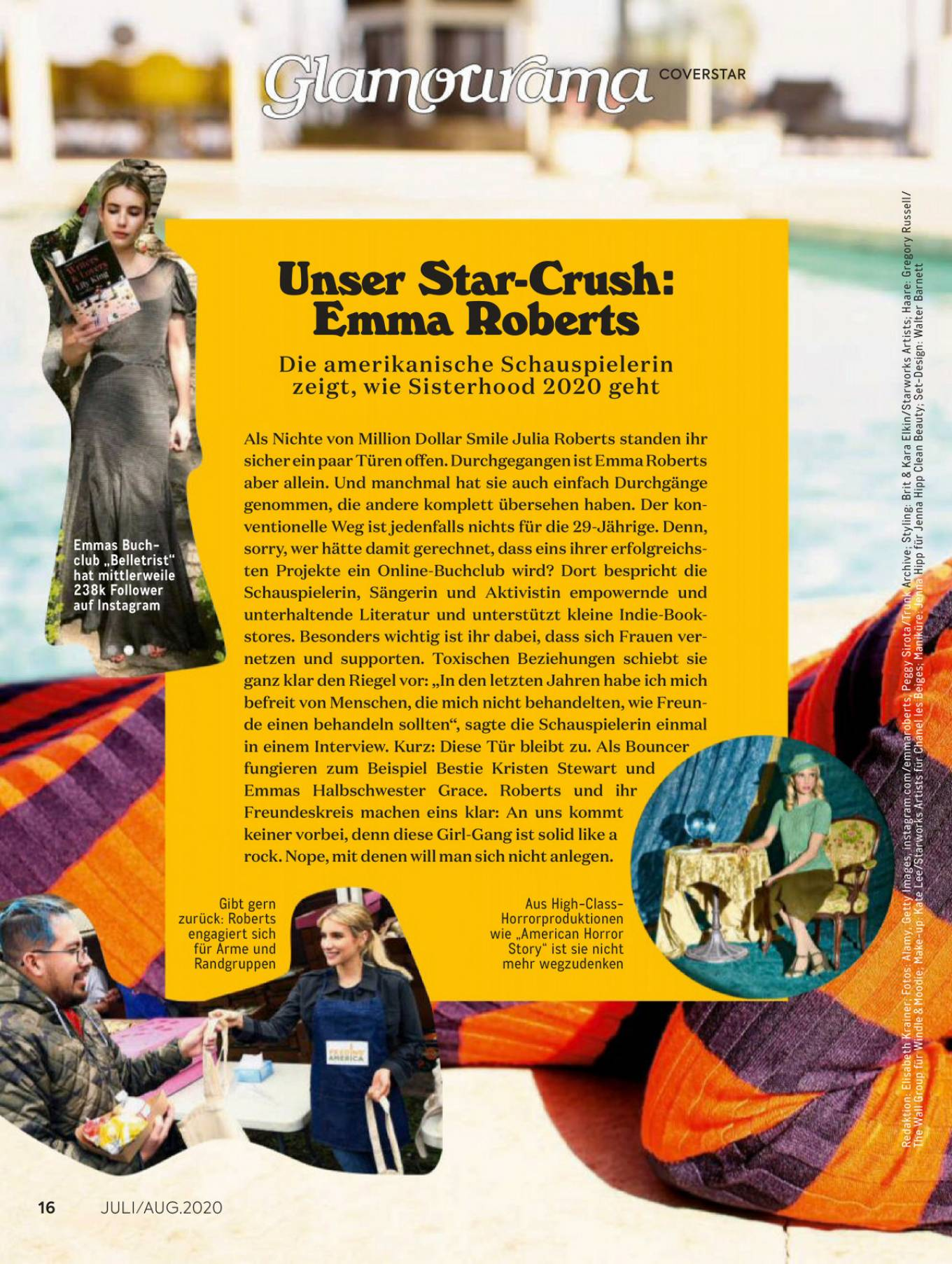 Emma Roberts 2020 : Emma Roberts – Glamour Germany 2020-03