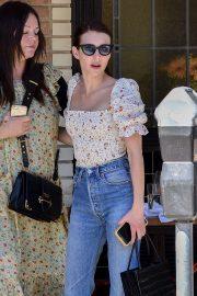 Emma Roberts - Grabs Lunch at Little Dom's in Los Feliz