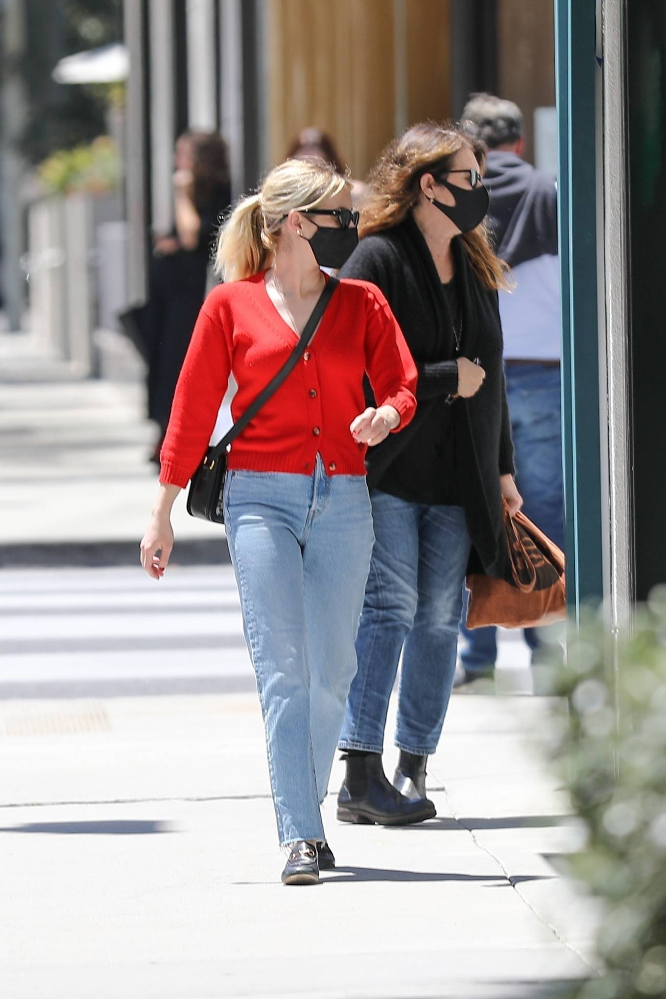 Emma Roberts 2021 : Emma Roberts – heads to Rodeo Dr. in Beverly Hills with her mother Kelly Cunningham-04