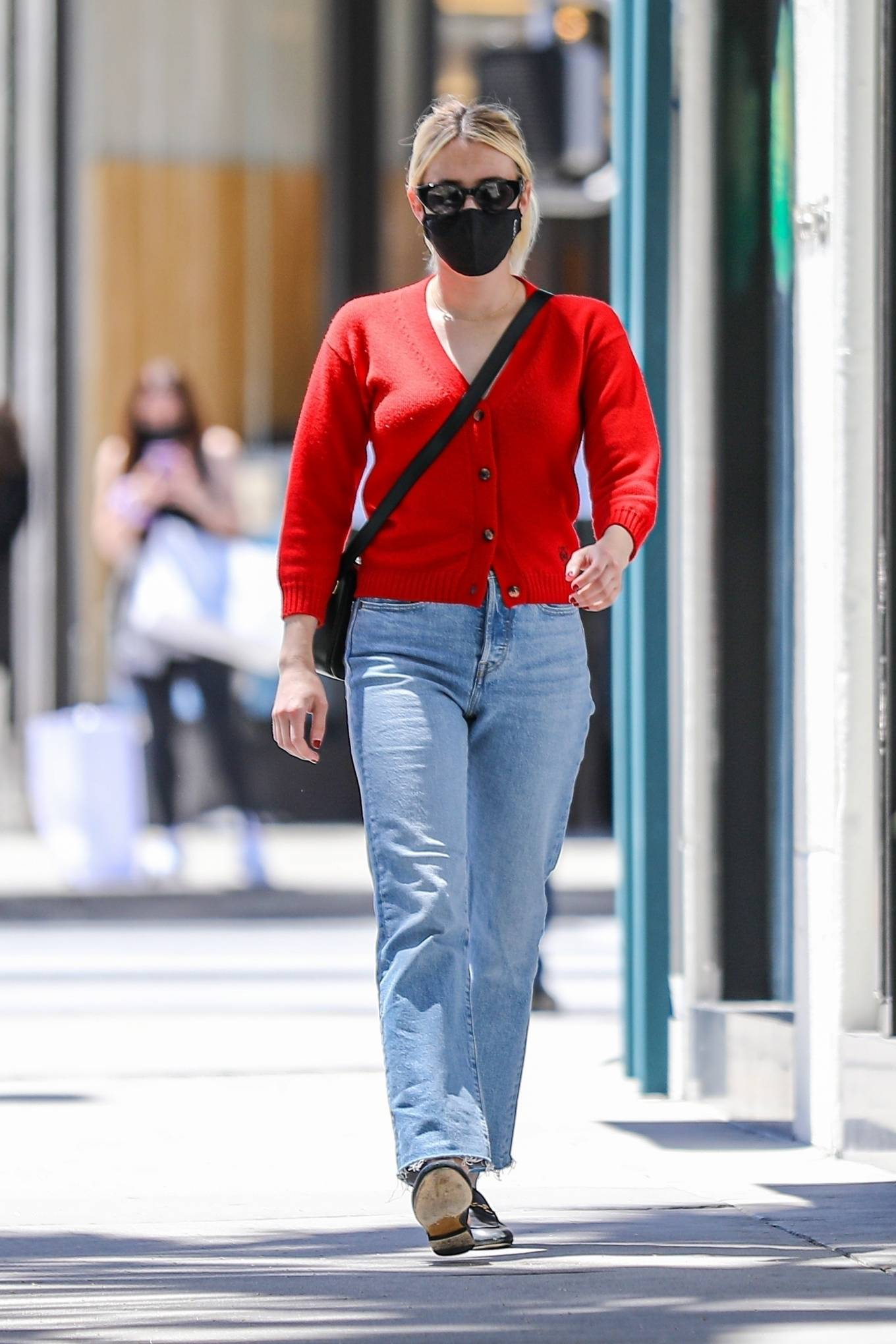Emma Roberts 2021 : Emma Roberts – heads to Rodeo Dr. in Beverly Hills with her mother Kelly Cunningham-12