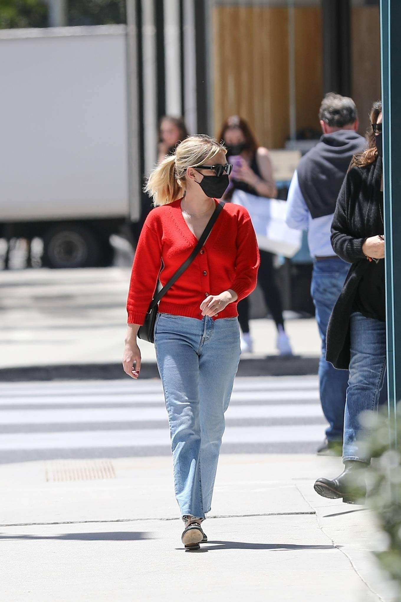 Emma Roberts 2021 : Emma Roberts – heads to Rodeo Dr. in Beverly Hills with her mother Kelly Cunningham-13