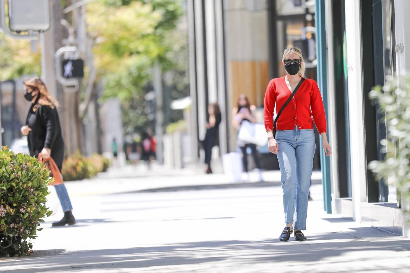 Emma Roberts 2021 : Emma Roberts – heads to Rodeo Dr. in Beverly Hills with her mother Kelly Cunningham-21