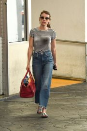 Emma Roberts - hops into her ride after leaving dermatologist in Beverly Hills