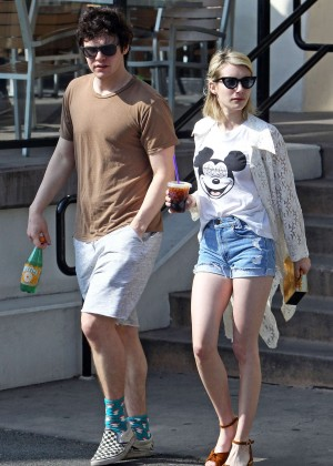 Emma Roberts in Denim Shorts -08