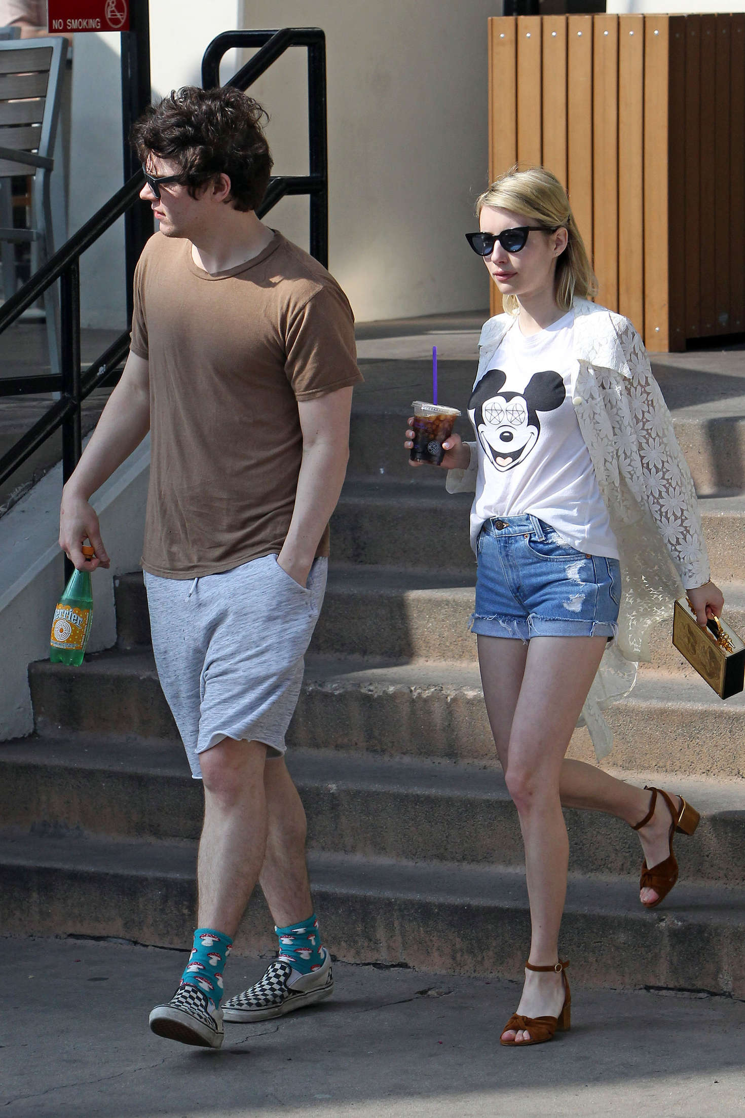 Emma Roberts 2016 : Emma Roberts in Denim Shorts -12