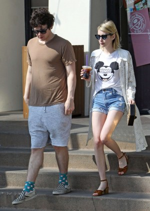 Emma Roberts in Denim Shorts -13