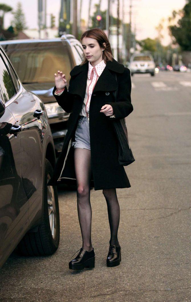 Emma Roberts in Denim Shorts -11 | GotCeleb