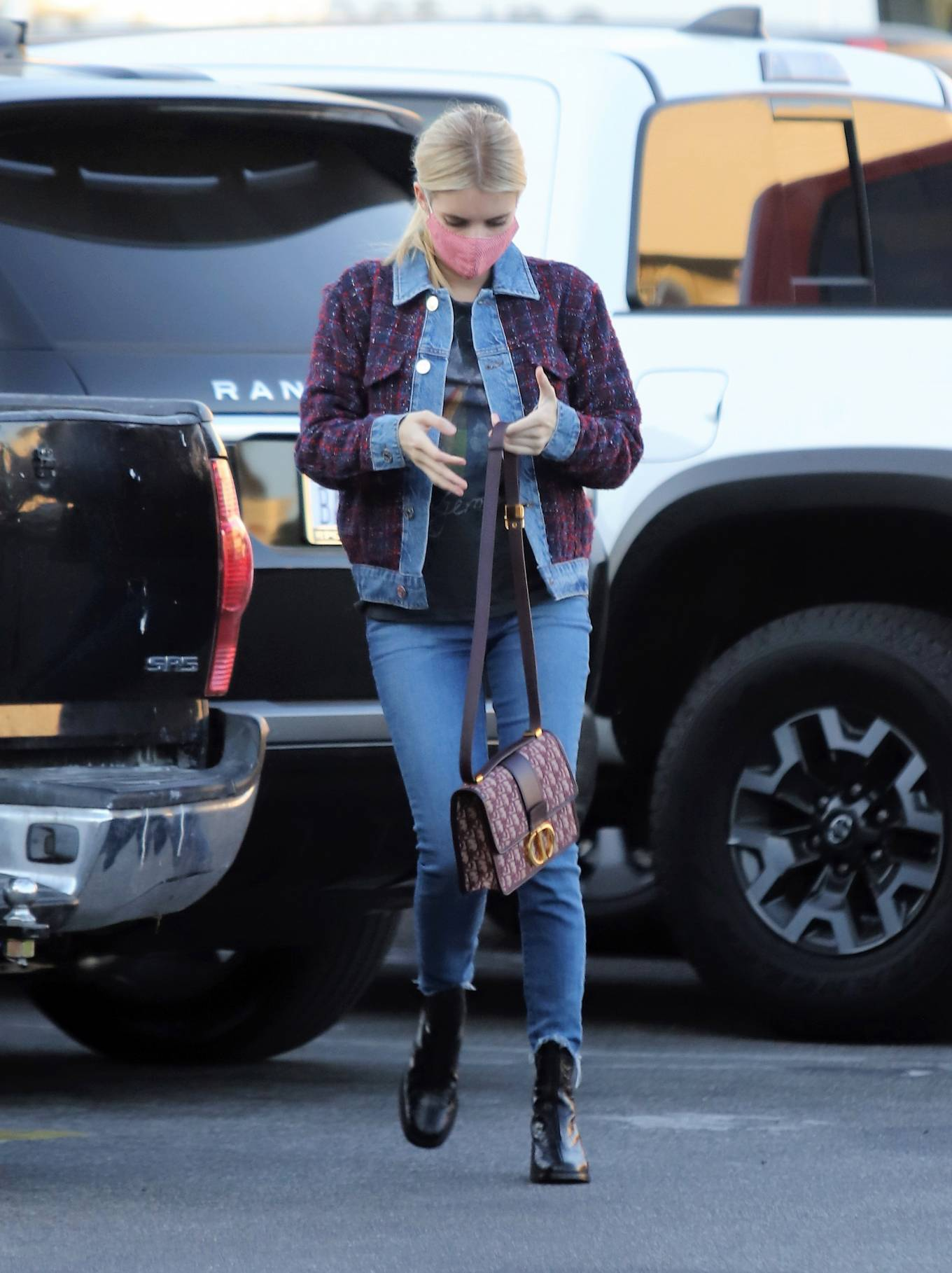 Emma Roberts - In denim stepping out in Los Angeles