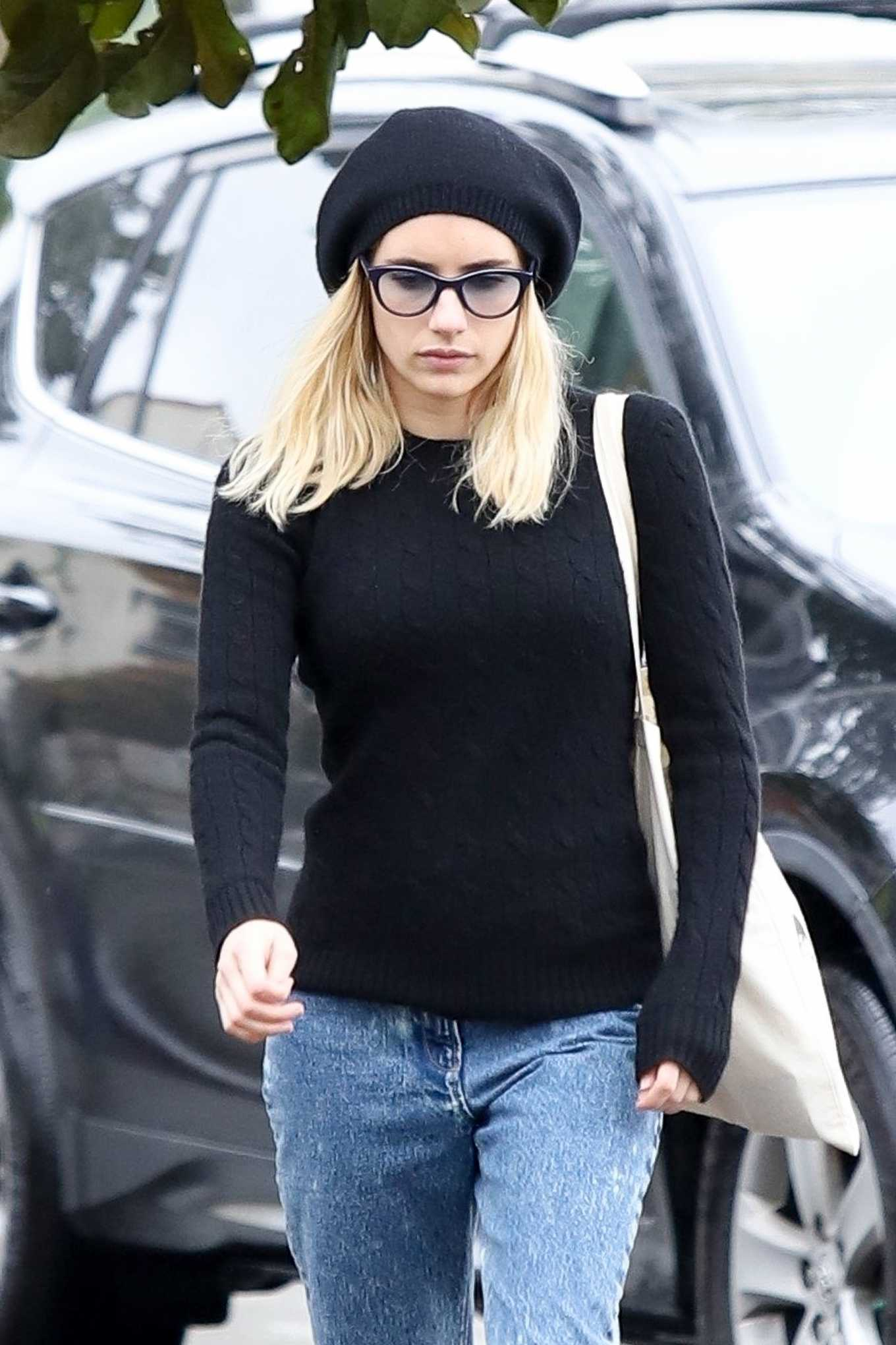 Emma Roberts in Jeans - Out in Los Angeles