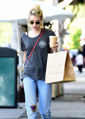 Emma Roberts in Jeans out in Los Angeles
