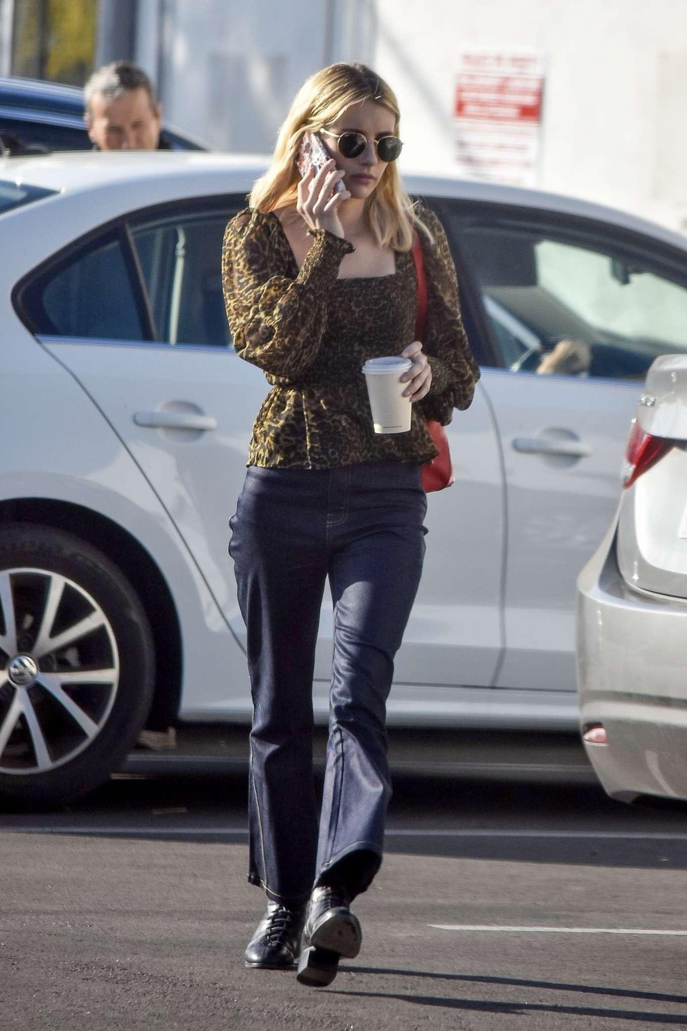 Emma Roberts - In jeans out in Los Feliz