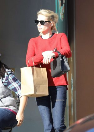 Emma Roberts in Jeans Shopping in Beverly Hills