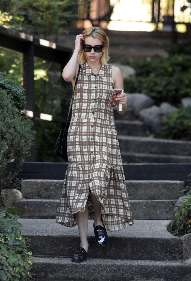 Emma Roberts in Long Dress out in Los Angeles