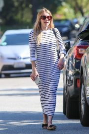 Emma Roberts in Long Dress - Out  in Los Angeles