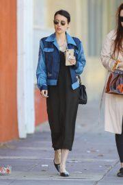 Emma Roberts in Long Dress - Out in Los Feliz