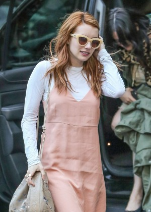 Emma Roberts in Long Dress out in New York