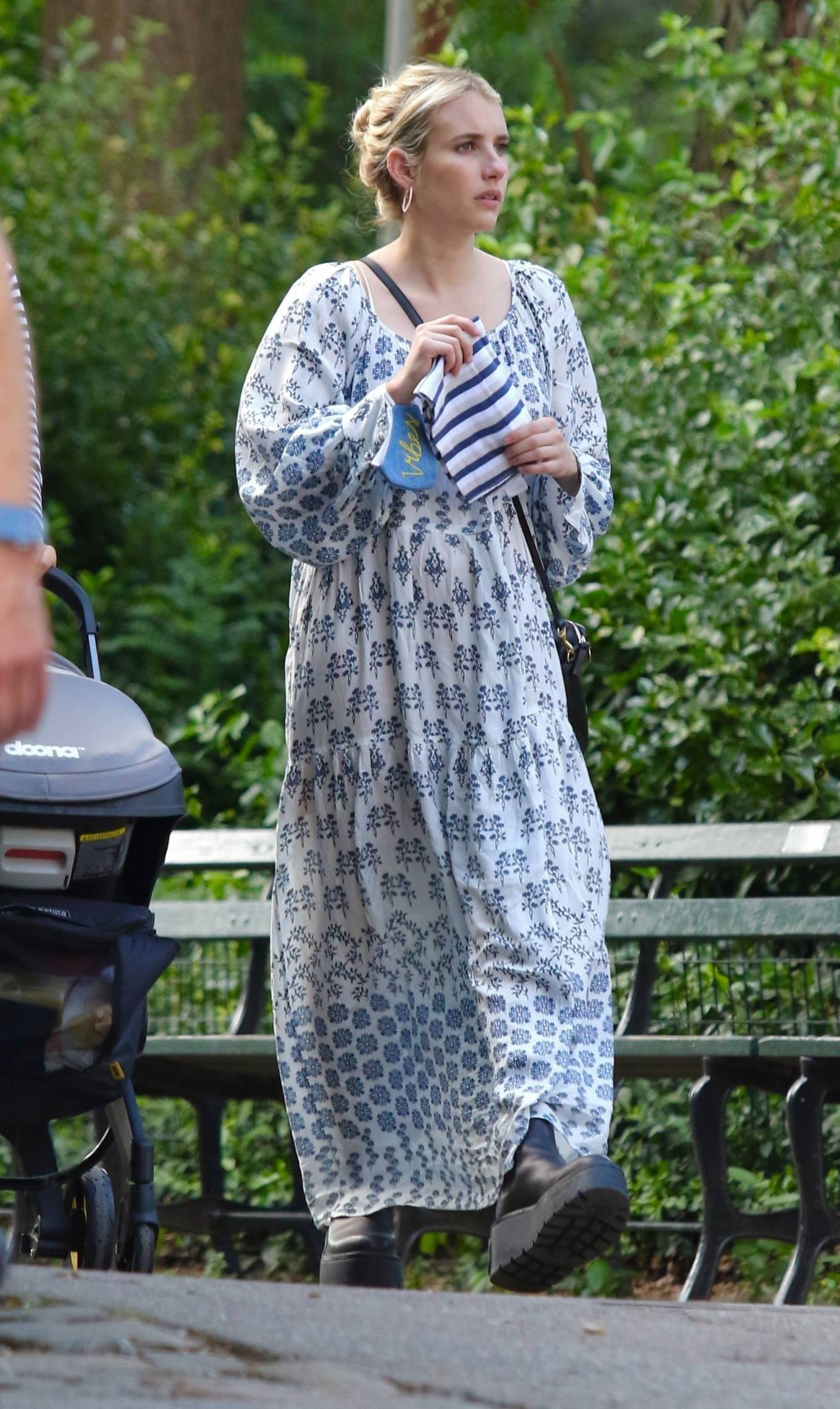 Emma Roberts - In maxi summer dress steps out in New York City