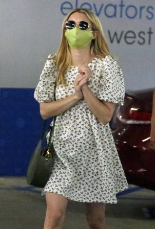 Emma Roberts in Mini Dress and Garrett Hedlund - Go for a check up in Los Angeles
