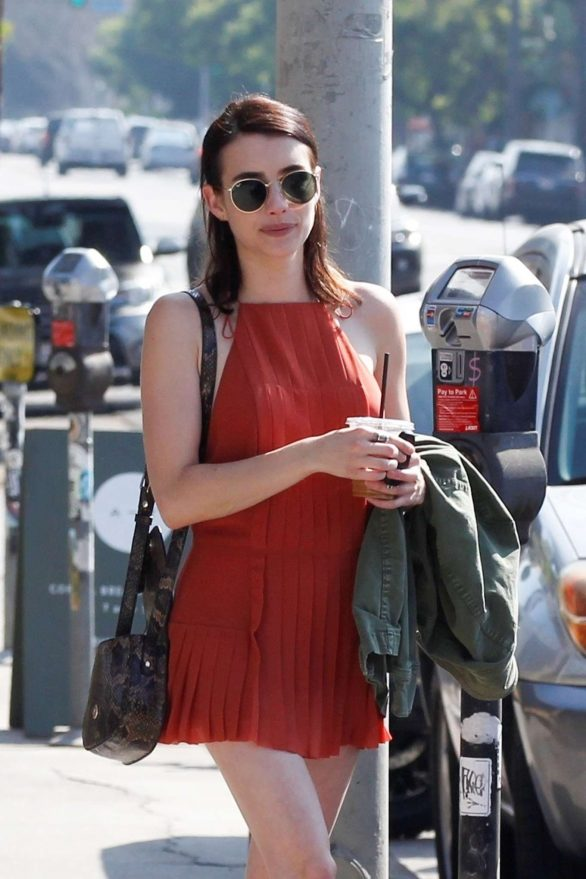 Emma Roberts in Short Dress - Out for lunch in Los Feliz
