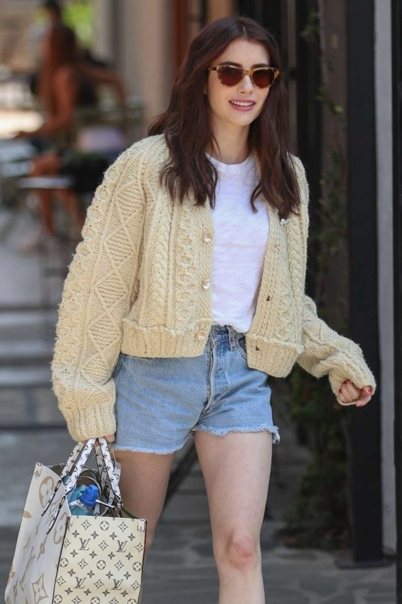 Emma Roberts in Shorts - Leaves Nine Zero One salon in West Hollywood