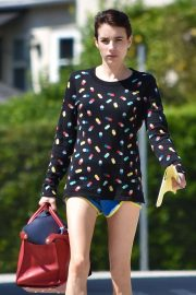 Emma Roberts - In shorts out and about in Los Feliz