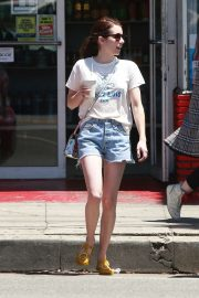 Emma Roberts in Shorts - Out in Los Feliz