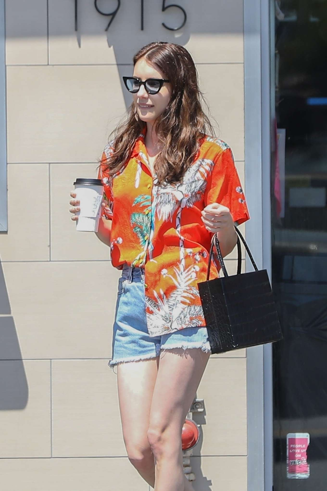 Emma Roberts in Shorts - Shopping in Los Angeles