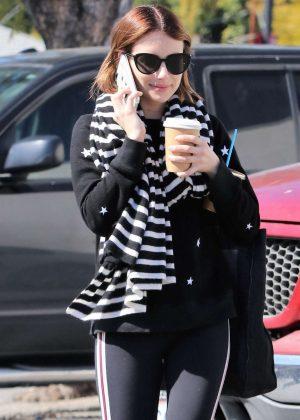 Emma Roberts in Spandex - Out in Los Feliz