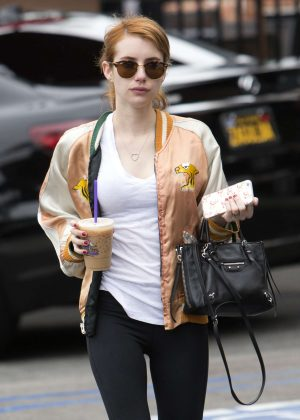 Emma Roberts in Spandex Out in West Hollywood