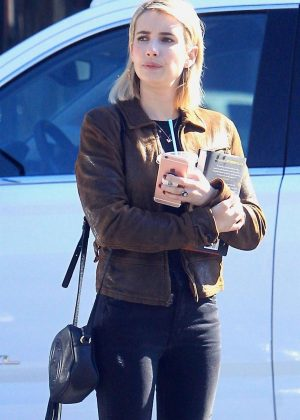 Emma Roberts in Tight Jeans - Out in Beverly Hills