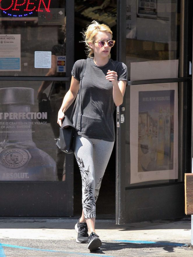 Emma Roberts in Tights out in Beverly Hills