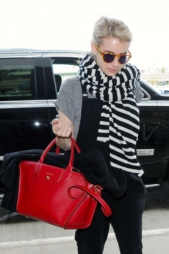 Emma Roberts - LAX Airport in Los Angeles