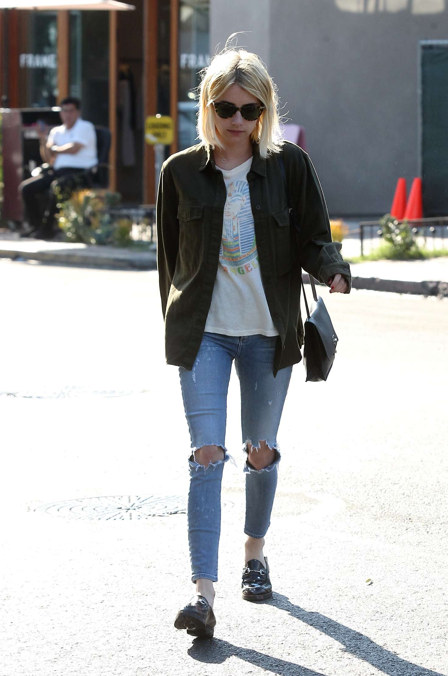 emma roberts leaves 901 salon in west hollywood